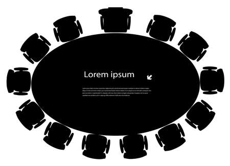 round table Stock Vector - 19091791