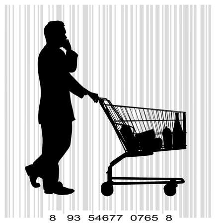 people with shopping Vector