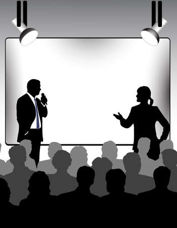 person shined: presentation Illustration