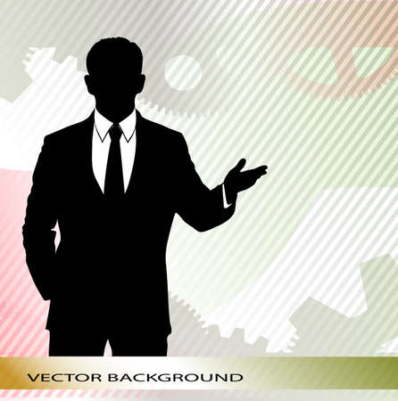 businessman on an abstract background