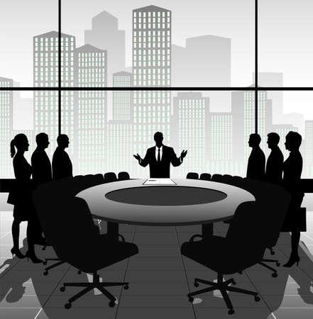 relaciones humanas: reuni?e negocios