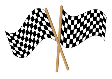 checkered alarm flag Vector