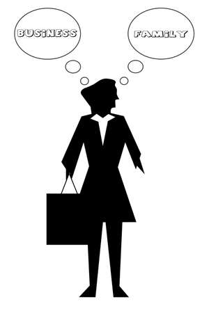 abstract silhouette of woman  businessman Vector