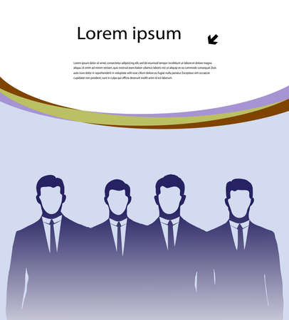 abstract drawing of group of businessmen for design Stock Vector - 19506714