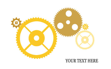 gears on a white background Stock Vector - 19506861