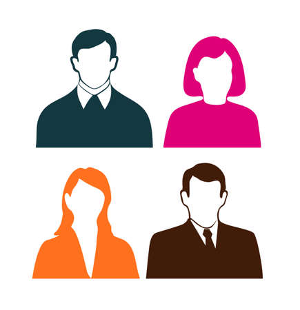 animated film: people icons on a white background