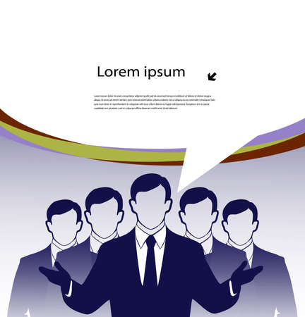 business team with a place for the text Stock Vector - 19507102
