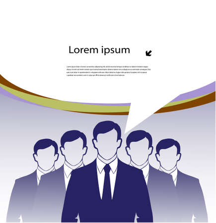 business team with a place for the text Stock Vector - 19507101
