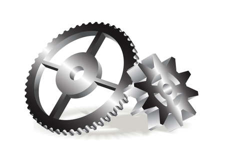 gear wheels in the 3d Stock Vector - 19507113