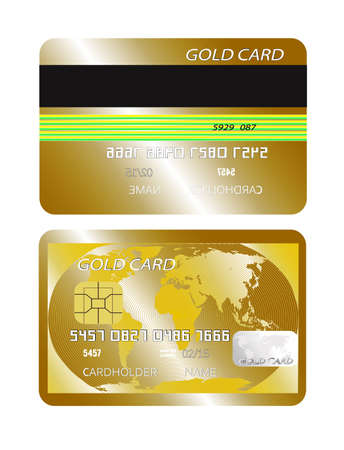 anybody: gold card on a white background