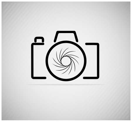 camera lens: abstract beeld van een camera