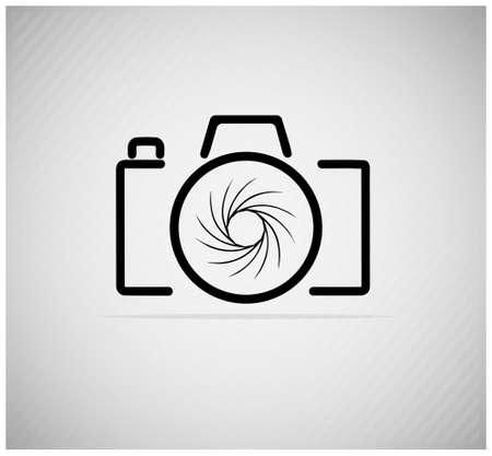 imagen abstracta de una cámara Ilustración de vector