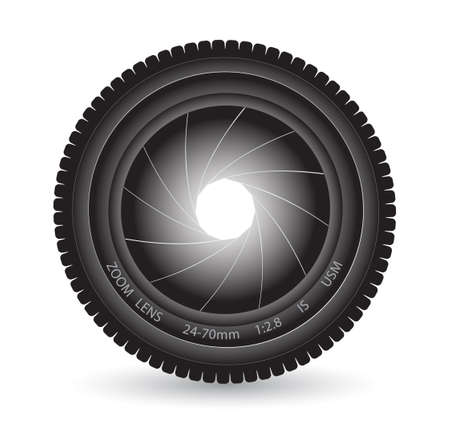 lens on a white background Stock Vector - 19681230