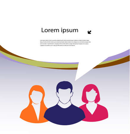 business team with a place for the text Stock Vector - 19681246