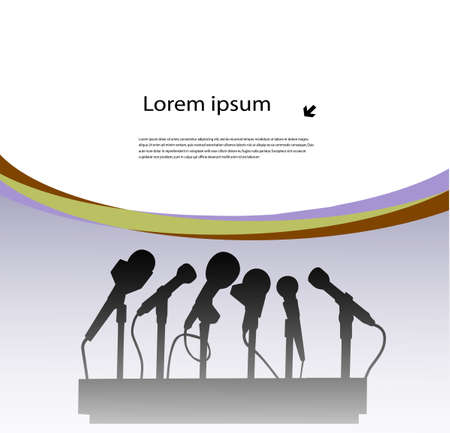 microphone and place for your information Vector