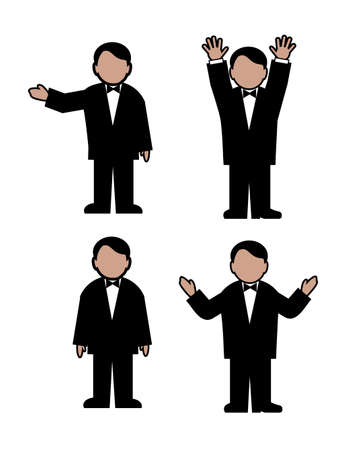 man in movement Illustration