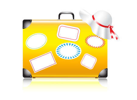 reference point: suitcase for travel Illustration