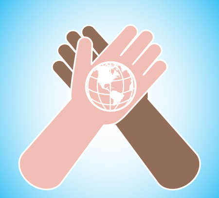 planet on a palm a commonwealth symbol Stock Vector - 19796232