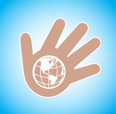 planet on a palm a commonwealth symbol Stock Vector - 19796187
