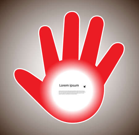 human hand with a place for your text Vector