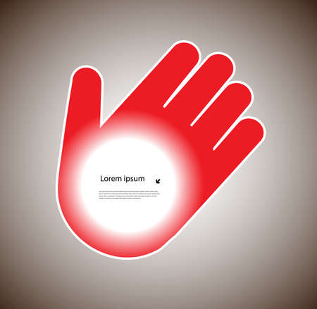 human hand with a place for your text Stock Vector - 19796267