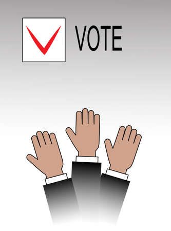 voting hands Illustration