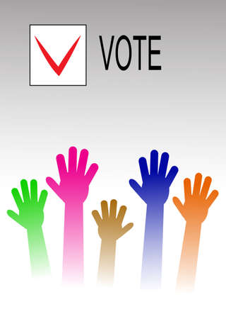nomination: voting hands Illustration