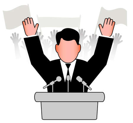 policy speech before an audience Stock Vector - 20070699