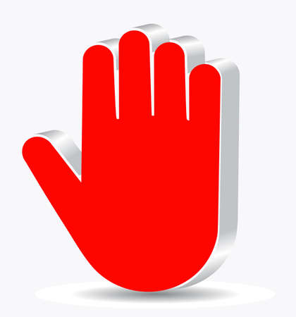 abstract hand on a white background Vector
