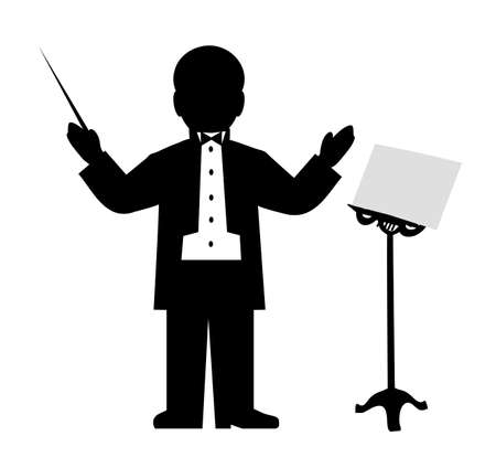maestro: drawing of the conductor Illustration