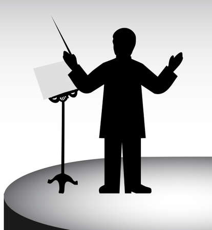 drawing of the conductor Stock Vector - 20070685