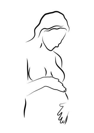 sacre coeur: contours de la femme enceinte,