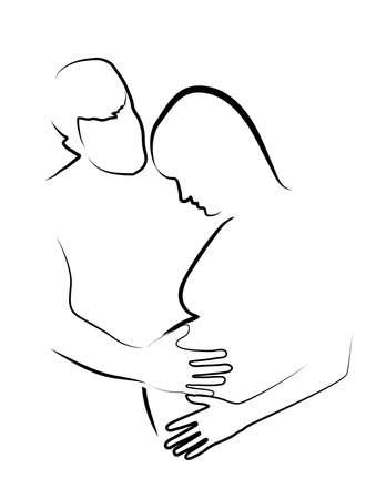 contornos de la mujer embarazada