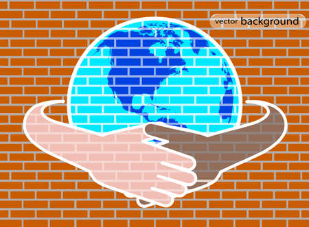hands round the globe are symbolized by unity Stock Vector - 20311200