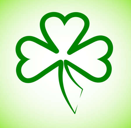 good s: shamrock leaf of a clover for design
