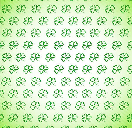 patric background: pattern from clover leaves for design by day of St  Patricks Day