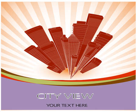 abstract city landscape Stock Vector - 20311297