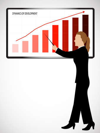 business woman holds presentation Stock Vector - 20339188