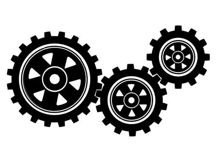 gears on a white background 矢量图像