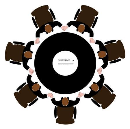 manos unidas: grupo de hombres que tienen manos unidas en un c�rculo