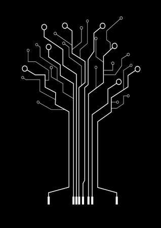 abstract tree symbolizes high technologies Vector