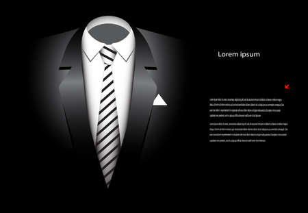fashionable suit on a black background