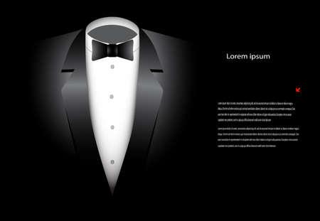 ファッショナブルなスーツ、黒の背景に