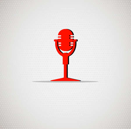 concert audience: microphone icon on seamless background