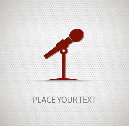 microphone icon on seamless background Vector