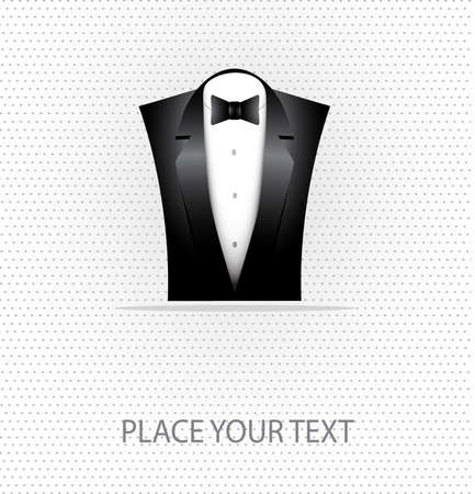 fashionable suit on a seamless background with a place for your text