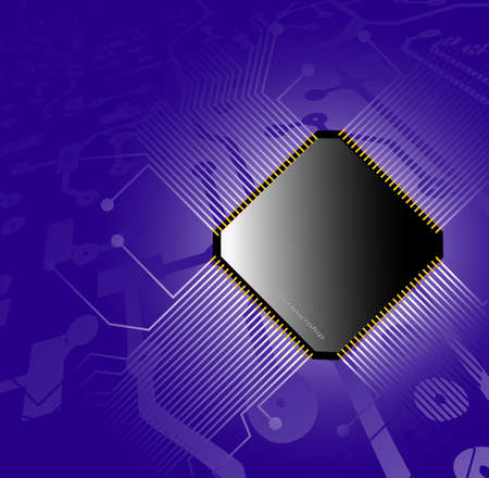 electronics parts: technological abstract background Illustration