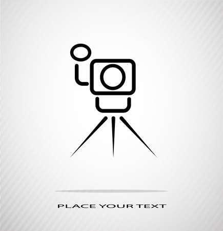 abstract contour of a video camera Stock Vector - 20775108