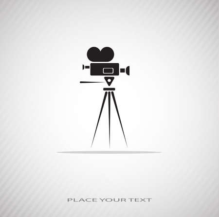 video camera drawing on a seamless background Stock Vector - 20775113