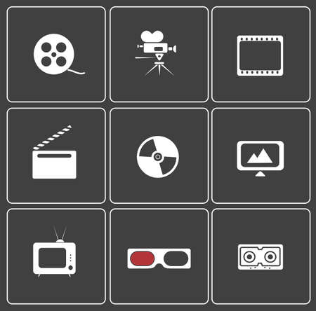 icon web on cinema Stock Vector - 20775115
